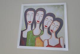 Canvas Oil چاپ شده توسط 2.5 متر (8 فوت) چاپگر Eco solvent WER-ES2502 2