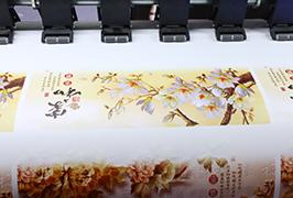 خود چسب وینیل توسط 1.8 متر (6 فوت) چاپگر اکولوژیکی حلال WER-ES1802 چاپ شده است