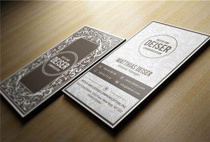 نام کارت چوبی چاپ شده توسط A1-uv-WER-EP6090UV