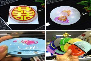 چاپ نمونه های پلاستیکی از A1 اندازه uv printer 6090UV